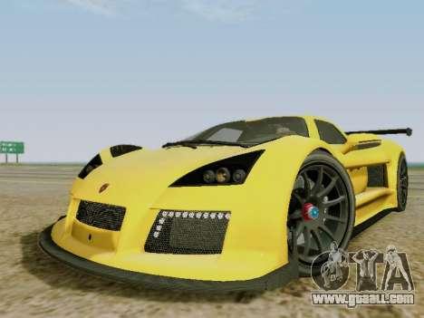 Gumpert Apollo S 2012 for GTA San Andreas left view