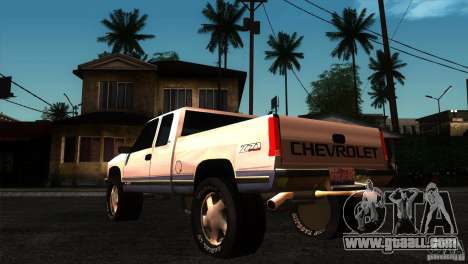 Chevrolet Silverado 1996 for GTA San Andreas back left view