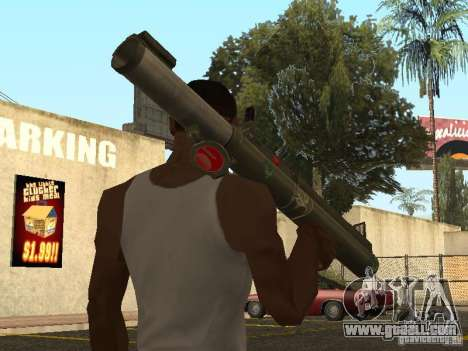 LAW Rocket launcher for GTA San Andreas second screenshot