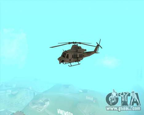 UH-1 Iroquois for GTA San Andreas back view