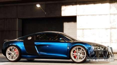 Audi R8 LeMans for GTA 4 inner view