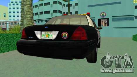 Ford Crown Victoria Police 2003 for GTA Vice City left view