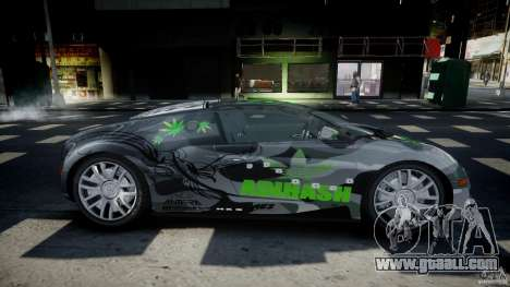 Bugatti Veyron 16.4 v1.0 new skin for GTA 4 inner view