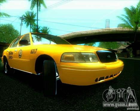 Ford Crown Victoria 2003 TAXI for GTA San Andreas left view