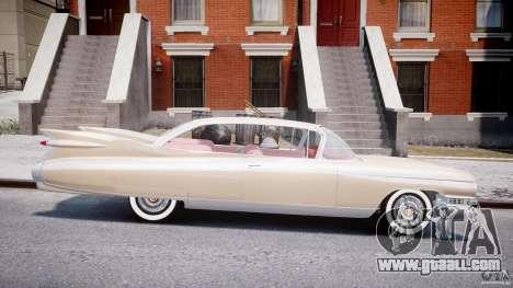 Cadillac Eldorado 1959 (Lowered) for GTA 4 inner view