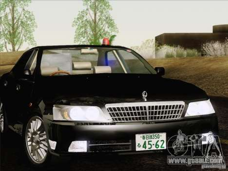 Nissan Laurel GC35 Kouki Unmarked Police Car for GTA San Andreas back view