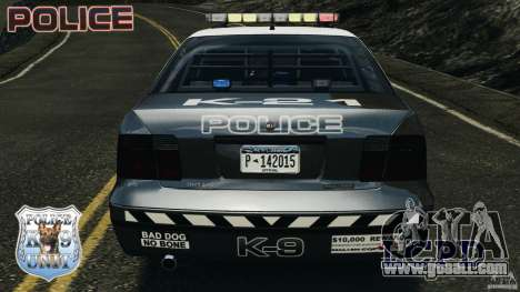 LCPD K9 Unit for GTA 4 bottom view