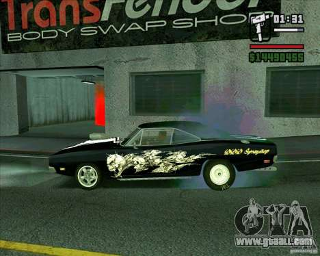 Dodge Charger R/T 69 for GTA San Andreas left view