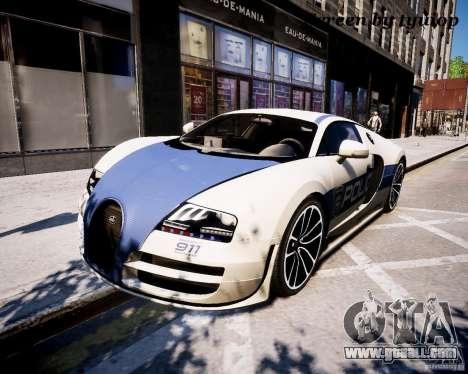 Bugatti Veryon SS COP for GTA 4