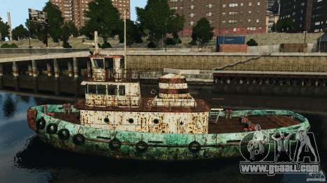 Realistic Rusty Tugboat for GTA 4 left view