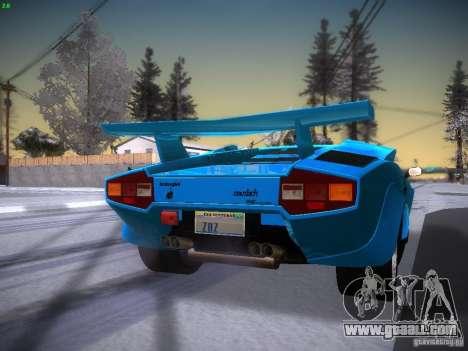 Lamborghini Countach LP5000 for GTA San Andreas back left view