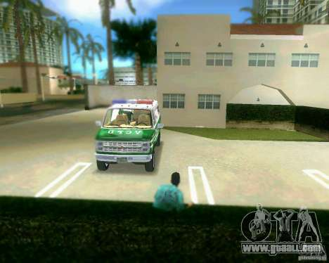 Chevrolet Van G20 for GTA Vice City side view