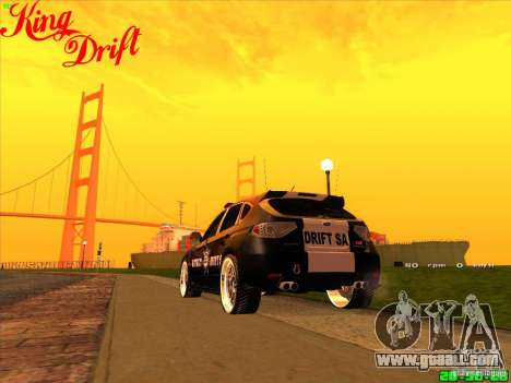 Subaru Impreza WRX Police for GTA San Andreas left view