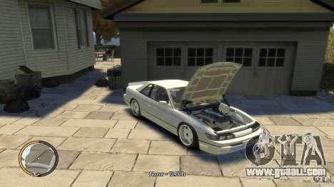 Nissan Silvia s13 Drifted v1.0 for GTA 4 back left view