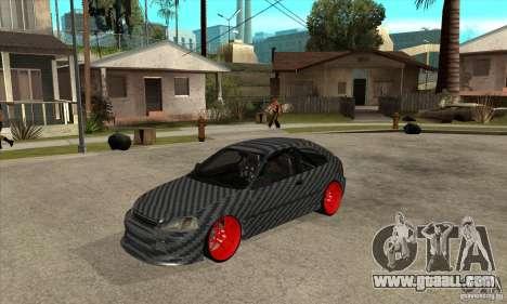 Honda Civic Carbon Latvian Skin for GTA San Andreas left view