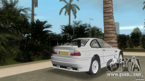 BMW M3 for GTA Vice City back left view
