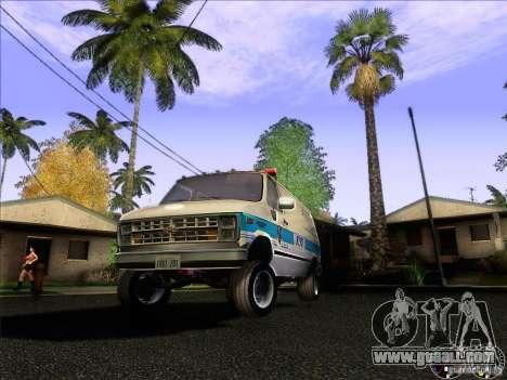 Chevrolet VAN G20 NYPD SWAT for GTA San Andreas