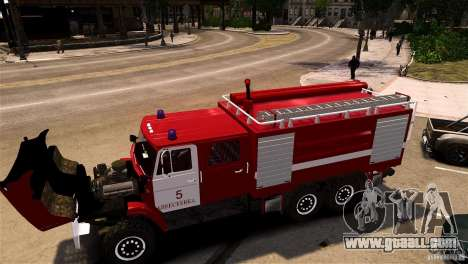 ZIL 433474 Firefighter for GTA 4 back left view
