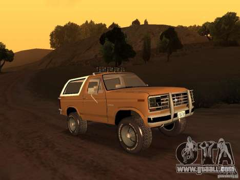 Ford Bronco 1985 for GTA San Andreas