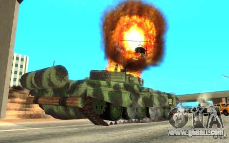 Tank T-72 for GTA San Andreas back view