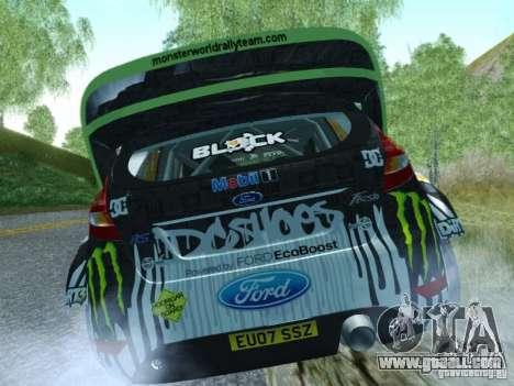 Ford Fiesta Ken Block Dirt 3 for GTA San Andreas back left view