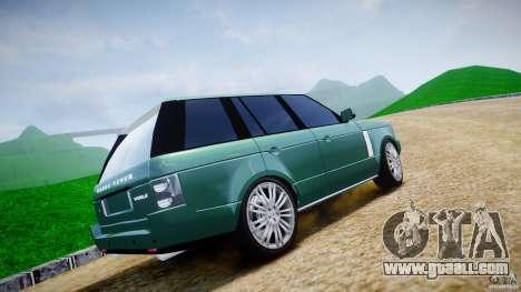 Range Rover Vogue for GTA 4 bottom view