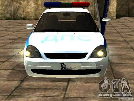 LADA 2170 Police for GTA San Andreas left view
