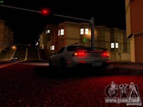 Mazda RX-7 for GTA San Andreas interior