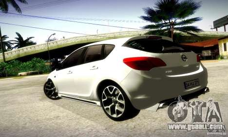 Opel Astra Senner for GTA San Andreas back left view