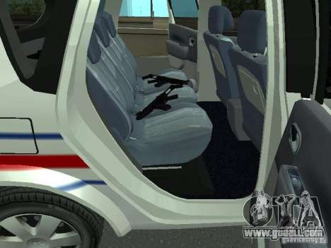 Renault Scenic II Police for GTA San Andreas back view