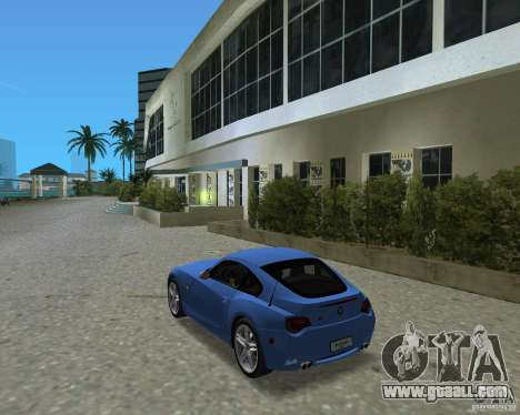 BMW Z4 for GTA Vice City right view