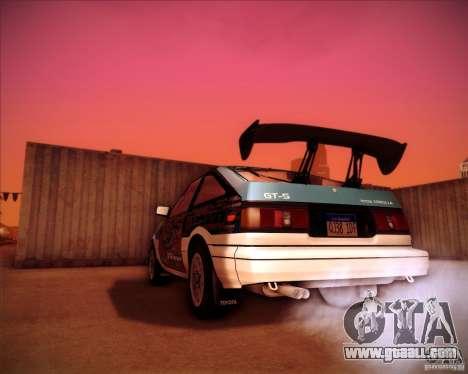 Toyota Corolla AE86 StreetAttack for GTA San Andreas left view