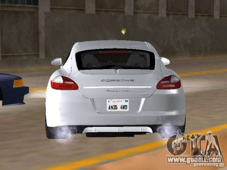 Porsche Panamera Turbo Tunable for GTA San Andreas back left view