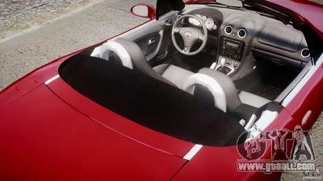 Mazda MX-5 Miata for GTA 4 side view