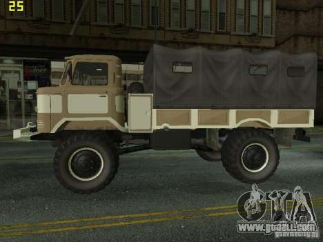 GAZ 66 Parade for GTA San Andreas back left view