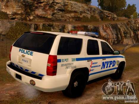 Chevrolet Tahoe New York Police for GTA 4 left view