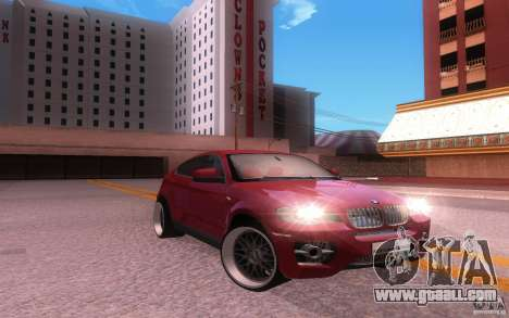 BMW X6 Tuning for GTA San Andreas back left view
