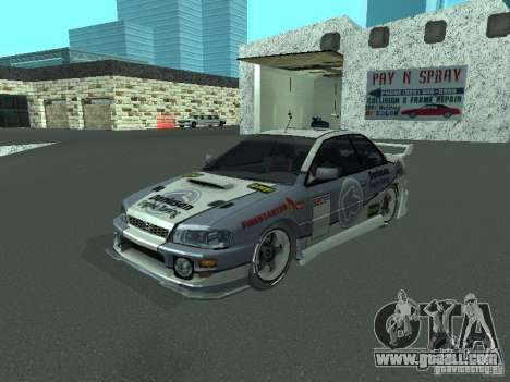 Subaru Impreza for GTA San Andreas inner view