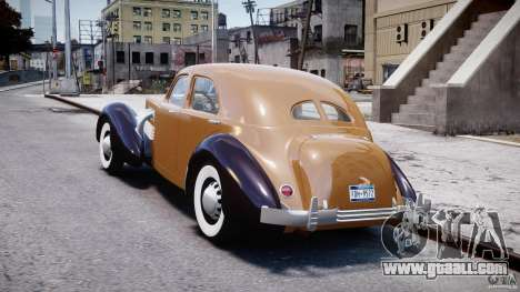 Cord 812 Charged Beverly Sedan 1937 for GTA 4 back left view