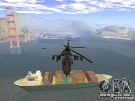 Mi-24 of COD MW 2 for GTA San Andreas back view