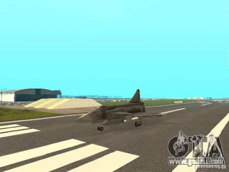 Saab JA-37 Viggen for GTA San Andreas left view