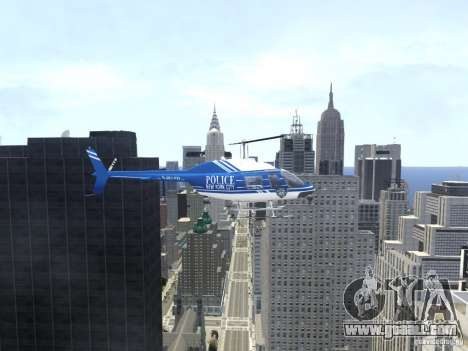 Bell 206 B - NYPD for GTA 4 inner view