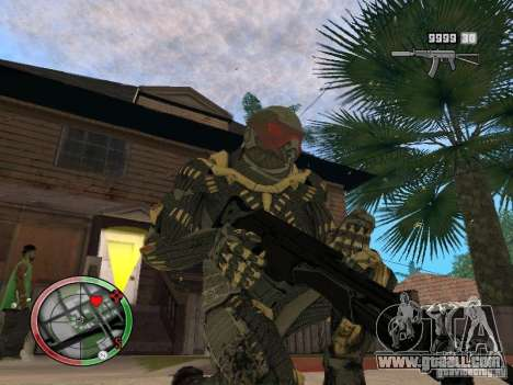 Collection of weapons of Crysis 2 for GTA San Andreas eighth screenshot
