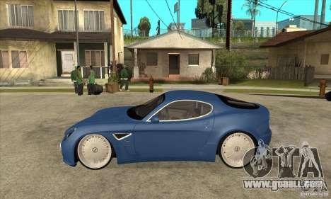 Alfa Romeo 8C Competizione for GTA San Andreas left view