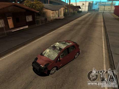 Fiat Punto T-Jet Edit for GTA San Andreas back left view