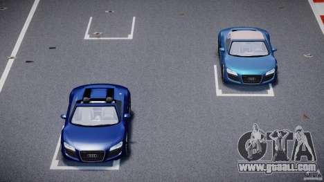 Audi R8 Spyder v2 2010 for GTA 4 upper view