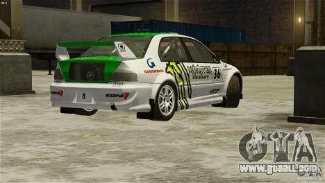Mitsubishi Lancer Evolution IX RallyCross for GTA 4 left view