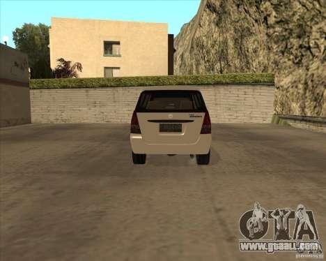 Toyota Innova for GTA San Andreas back view
