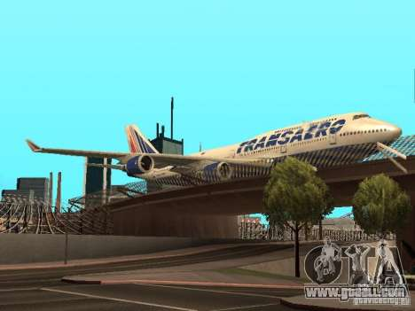 Boeing 747-400 for GTA San Andreas back view