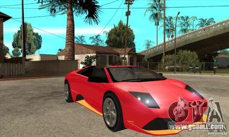 Lamborghini Murcielago LP650 for GTA San Andreas back view